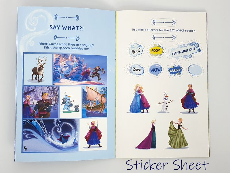 Activities and stickers in perosnalised book